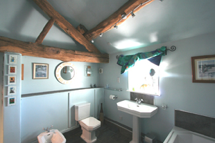 First floor bathroom, Whiteley Royd Farm, Hebden Bridge