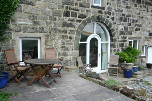 The patio, Whiteley Royd Farm, Hebden Bridge