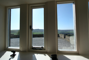 View from ground floor bedroom, Whiteley Royd Farm, Hebden Bridge