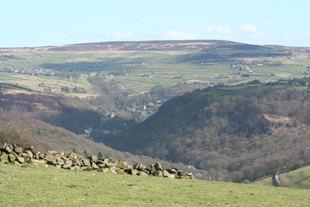 View of Hebden Bridge from Master Bedrooom, Whiteley Royd Farm, Hebden Bridge